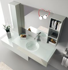 Font Collection | The #bathroom according to Scavolini | #Washbasin |