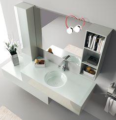 Font Collection | The #bathroom according to Scavolini | #Washbasin |