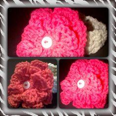 Arbor Rose flower with Eggshell headband (0-3 months)