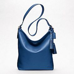 Oh, I SO want this!!! The blue bag I have been looking for!!!!   LEGACY LEATHER LARGE DUFFLE