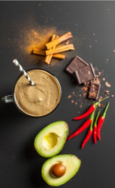 Mexican Chocolate Smoothie // hot, sweet, creamy...ummmmm, this has to happen! #magic