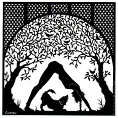 Swiss Papercuts ... I'm calling this one downward dog(s).