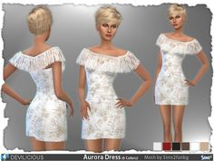 The Sims Resource: Aurora Dress by Devilicious • Sims 4 Downloads