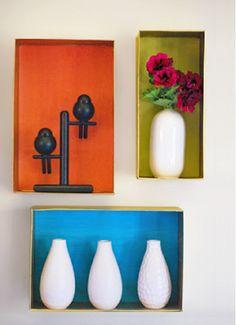 Cardboard Wall Shelves