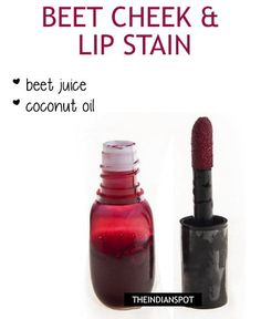 Pomegranate Lip stain: Pomegranate seeds are proven to be a very effective remedy for dark lips. It helps in changing the color of the lips and to get this you need to take a few pomegranate seeds, grind them properly to extract the juice. Mix the juice with few drops of coconut oil and