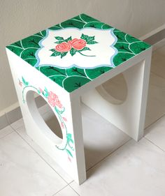 Hand painted Peranakan tile table