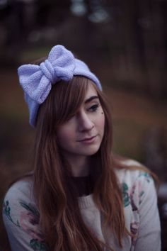 Knitted Bow Headband Knitted Headband Cute and Cosy by beauxoxo, £13.00