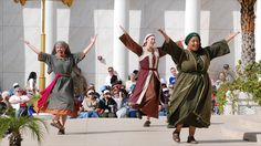 Dancers at the Holy Land Experience in Orlando, Florida are celebrating ....uh .... I don't know what they are celebrating, actually.