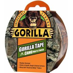 Gorilla Tape, Camo Matte Finish, 9 yds, Green