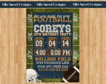 Football Party - Football Party Invitation - Tailgate Party - Watch Football Party