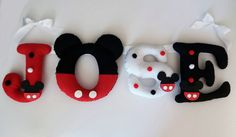Felt Name, Felt Banner, Baby Bedroom, Banners, Mickey Mouse, Baby Kids, Diy And Crafts, Decorations, Facebook