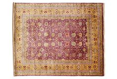 Ganges River Rug, Eggplant/Gold on OneKingsLane.com.  Beautiful colors.  Vintage wool.  The aging is beautiful, quality obvious.