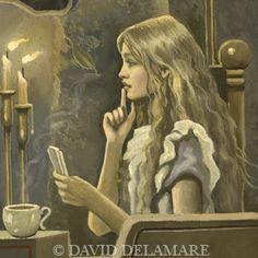 I love David Delamare artwork. Beautiful new Alice work!