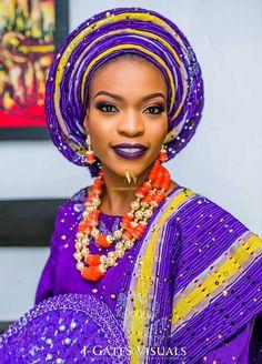 nigerian wedding purple yellow sanya aso-oke colors #jbanks2016 2