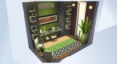 Check out this room in The Sims 4 Gallery! - #sims4#maxis#hot#luxury#modern#brick#green#orange#modernstudy#modernstudyroom#office#wood#pretty#living#simple#cool#sexy#family#small#room#chic#rich#beautiful#cute#nice#nocc#teen#design#wow#style