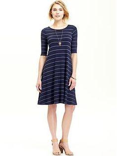 Women's Striped Jersey Swing Dresses | Old Navy