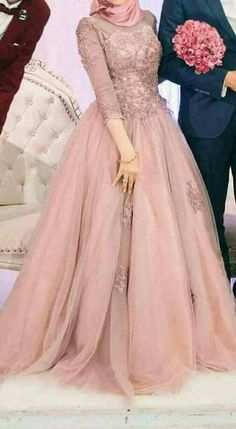 Engagement body colour dress with simple embroidery - HijabStyle Muslim Prom Dress, Hijab Prom Dress, Hijab Evening Dress, Muslim Wedding Dresses, Evening Dresses For Weddings, Prom Dresses With Sleeves, Modest Dresses, Cheap Dresses, Casual Dresses