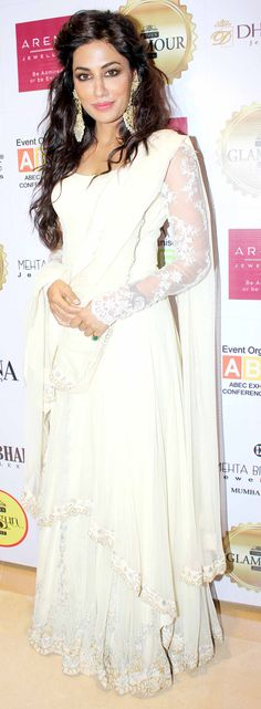 Chitrangada Singh at a do in a stunning floor-length Indian ensemble.