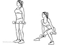 Dumbbell Side Lunges / Lateral Lunges | WorkoutLabs
