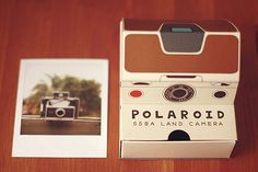 paper polaroid camera: polaroid with drawer