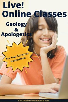 NEW for fall, 2020! We have four live online classes for your homeschool students to take part in!  The four classes are: Earth Science for Middle School; Apologetics for High School; Introduction to Biblical Geology (High School); and High School Geology: Practical Geology. See all four classes by clicking over to our website! #christianhomeschooling #geologyforkids #geologyscience #apologetics Bible Science, Earth Science, Science And Nature, Homeschool Science Curriculum, Homeschool High School, Homeschooling, Social Media Icons, Student Learning, Geology