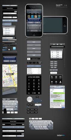 iPhone and iPad Development GUI Kits, Stencils and Icons