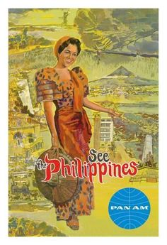 Giclee Print: See the Philippines - Pan American World Airways by Pacifica Island Art :