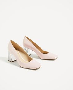 SILVER-TONED PATENT FINISH HIGH HEEL SHOES-High-heels-SHOES-WOMAN | ZARA United States