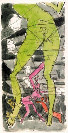 Mindgame storyboard.  Masaaki Yuasa