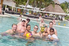 It's always a party at Secrets Resorts & Spas, especially in the pool!