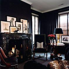 black, seductive room