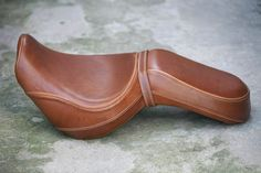 Leather motorcycle seat, handmade...
