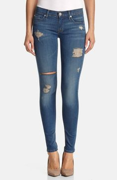 Hudson Jeans 'Krista' Super Skinny Jeans (Foxey) available at #Nordstrom