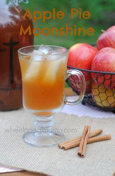 Apple Pie Moonshine, Easy Homemade Recipe     #Apple #Drinks #Alcohol #Moonshine