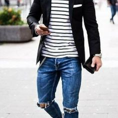 80ff528cf8f 10 Coolest Ripped Jeans Outfit Ideas For Men