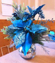 Blue Christmas Arrangement.