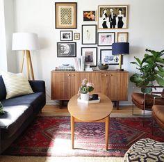 Art collection, MCM furniture, plants!