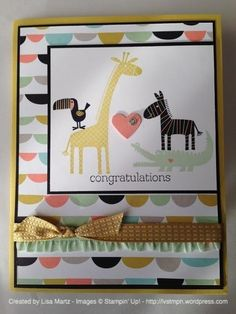 Stampin' Up! Zoo Babies & Sweet Sorbet DSP