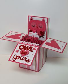Carol's Creations: Owl be Yours Pop Up Box card