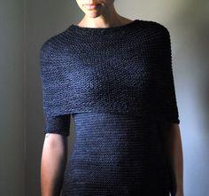 OBSIDIAN Sweater Knitting Pattern PDF.  via Etsy.