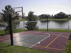 Backyard Sports Court | Sport Court of Iowa - Backyard basketball courts by Sport Court of ...