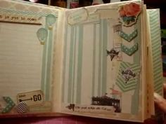 """the colours and dimensions in here are so sweet // """"fiNd youR wiNgs aNd fLy"""" mini album - scrapbooking mini album"""