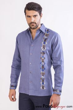 Cool Shirts For Men, Boys Shirts, Short Kurta For Men, Outfits For Mexico, Blazer Outfits Men, Guayabera Shirt, Mens Designer Shirts, African Clothing For Men, Mexican Outfit
