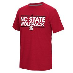 Adidas Men's North Carolina State University Dassler Ultimate Short Sleeve T-shirt (Red, Size Medium) - NCAA Licensed Product, NCAA Men's Tops at A...