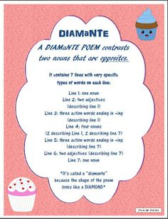 math worksheet : poem on pinterest : Diamante Poems Lesson Plans For 4th Grade