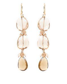 """Amanda Sterett - """"Celine"""" Gold and Citrine Earrings"""