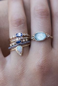 Sapphire Dew Ring | Jennie Kwon