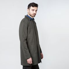 Men Coat Graphite Elementy #coat #graphite #mensfashion #autumn #elementy #minimal #classic #polishfashion