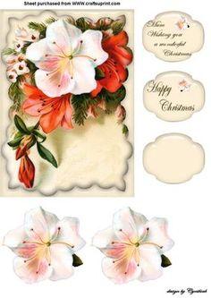 Christmas Flowers on Craftsuprint designed by Cynthia Berridge - a pretty…