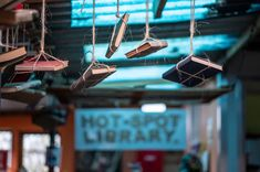 PHOTOS: Joy Of Books In Cape Town Library Born In Shipping Containers : Goats and Soda : NPR Library Rules, Used Shipping Containers, Steel Railing, Library Design, Book Projects, Slums, Book Nooks, Cape Town, Wood And Metal